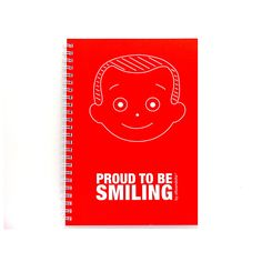 smiling notebook made by recycled paper (last items, on sale)