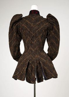Jacket, wool, silk, cotton, American