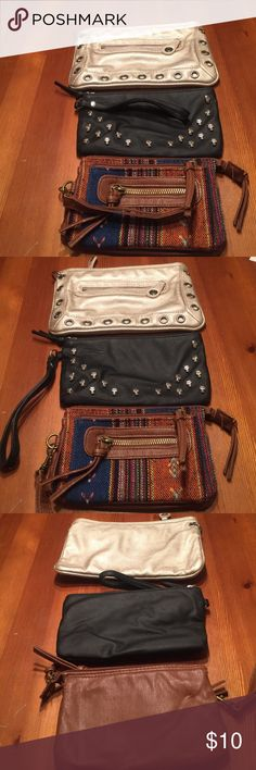 Wristlets!! 3 Wristlets for the price of 1. You can't beat this deal. Bags Clutches & Wristlets