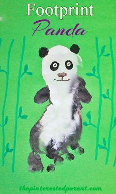 Footprint Panda - Footprint Crafts A - Z P is for Panda
