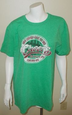 68e1153cbeb127 Cheers Bar Boston Where Everybody Knows Your Name Est. 1895 Mens T Shirt Sz  Lg