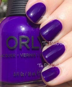 Orly Summer 2014 Baked Collection Swatches----I love this saturated shade of purple.