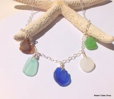 Sea Glass Beach Glass Lake Erie Dangle Multi by beachglassshop, $48.00