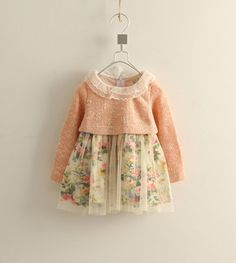 """long sleeve"" Pattern free baby pattern | 2013 new baby girl fall long sleeve printed dress, princess cute ..."