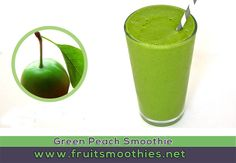 green peach smoothie