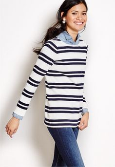 """Women's Clothing - - J.Crew Factory step up the """"grown up"""" clothing game : add a collared shirt under anything [sweaters, t-shirts, dresses, etc] for instant polish"""