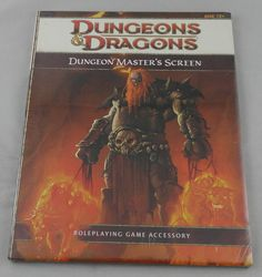 Dungeon Masters Guides 158710: Dungeons And Dragons 4Th Ed Dungeon Master S Screen Masters 4-Panel Dandd Wtc21830 -> BUY IT NOW ONLY: $59.99 on eBay!