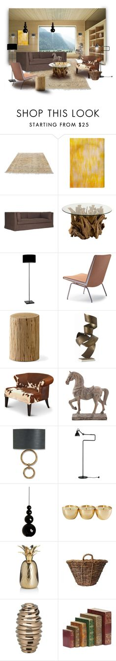 """""""Light Delight"""" by michelletheaflack ❤ liked on Polyvore featuring interior, interiors, interior design, home, home decor, interior decorating, Mitchell Gold + Bob Williams, Heathfield & Co., Carl Hansen & Sons and Arteriors"""
