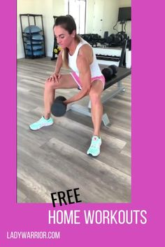 GET FREE ACCESS to my home workouts that you can execute in the comfort of your own home without having to go to the gym! Because nothing can stop a Lady Warrior like you from reaching your FITNESS GOALS!