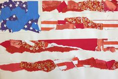 DIY July 4 American Flag Collages