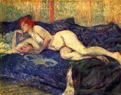 Reclining Nude - Henri de Toulouse-Lautrec
