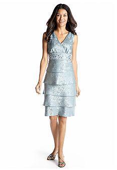 RM Richards Petite Sleeveless Jacquard Sheath Dress