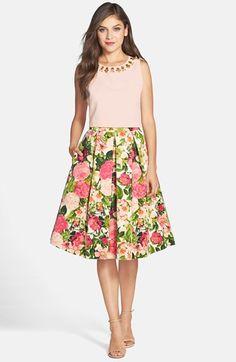 Eliza J Floral Print Faille Midi Skirt Skirt Outfits, Dress Skirt, Midi Skirt, Modest Fashion, Skirt Fashion, Glamour, Blouses For Women, Ideias Fashion, Casual Dresses