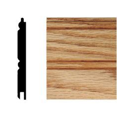 House of Fara 96 inch tongue & groove Solid Red Oak Planking
