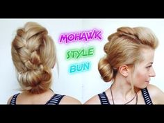 QUICK AND EASY HAIRSTYLE MOHAWK STYLE BRAIDED BUN | Awesome Hairstyles
