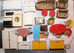 vintage dolls house furniture mixed condition lot 22 items Lundby Barton size