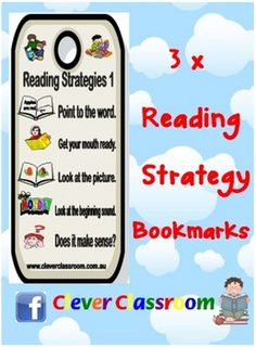 Reading Strategy Bookmark Mates - PDF file1 page with color reading strategies 1-13 in order. Teachers and parents can use with children ag...