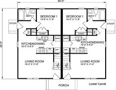 1000 Images About House Plans On Pinterest Duplex