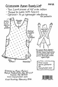 Sew a quick, easy, and reversible Crisscross Apron ideal for wearing while baking, during a garden harvest, or for next weekend's BBQ! Today Mary Mulari shares her all-time most requested apr...