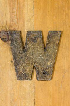 Cast Iron Capital Letter W, Vintage Letter W, Alphabet by EnglishRegalia on Etsy