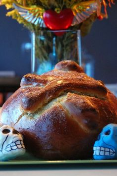 Pan de muertos recipe, traditional Mexican sweet bread for the Day of the Dead celebrations.
