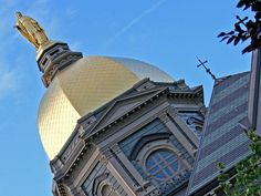 Golden Dome of Notre Dame. Photography by Monte Hershberger, Granger, Indiana
