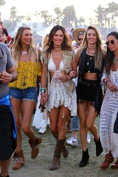 Alessandra Ambrosio lors du premier week-end du Festival de Coachella