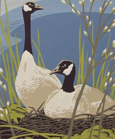 Canadian Geese by Alfred J. Casson