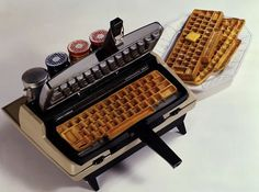 Since I no longer own a proper waffle iron--and no, belgian waffle makers do not count--I want this.