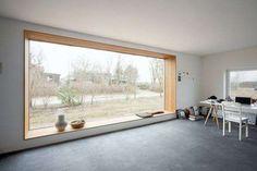 Pareti vetrate di design - Casa con grande vetrata