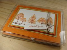 The Lovely As a Tree Stamp Set (by Stampin' Up!) is a real go-to set for me - especially when I want to give gift card sets.