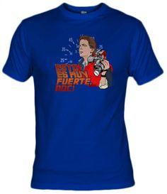 """Camiseta de la famosa frase de Marty McFly (Michael J Fox) """"Esto es muy fuerte, Doc!"""" en la película regreso al futuro."""