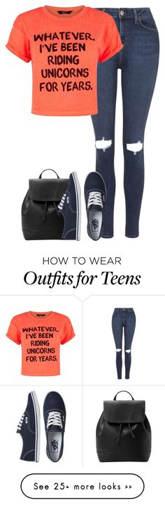 """""""Untitled #5348"""" by fanny483 on Polyvore featuring Topshop, MANGO and Vans"""