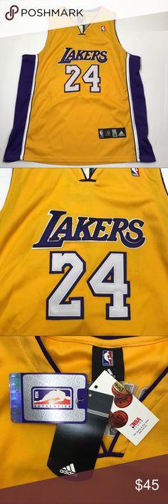 1b45a9156b1 VTG New Adidas LA Lakers Kobe Bryant  24 jersey 52 Kobe Bryant Stitched  Jersey Size