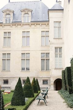 Paris-but the clean, gentle, elegant part; not the very romantic in lines and details, or the very plain black and white. This Parisian architecture: clean, with a porcelain color, and light blue.