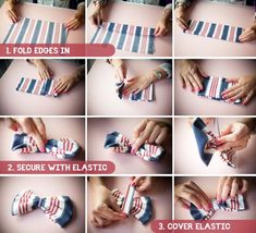 Simple Step By Step Tutorial on how to make a bow tie. Can be used as an hair or clothing accessory or decorations.