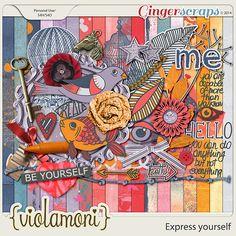 ViolaMoni Digital Scrapbooking Designs: Express yourself and Pieces