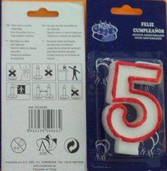 """Ambientair : velita de cumpleaños """" cinco """""""
