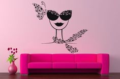 Wall Vinyl Sticker Room Decals Mural Design Art Pizza Slice Stamp Food   bo1362