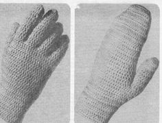 Crocheted gloves & mittens.  Finally found a pattern.  http://www.knitting-crochet.com/crochet/images/cromitfoupic1-2.jpg