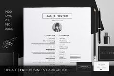 Resume/CV - Jamie by bilmaw creative on Creative Market