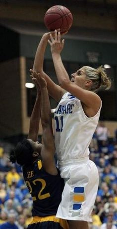 """Delaware Online: """"On Sunday, the Blue Hens left with the prize they coveted most of all. The Blue Hens won their first Colonial Athletic Association Women's Basketball Tournament title, overcoming Drexel 59-43."""""""