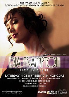 Dia Frampton to perform 'Live in Seoul'