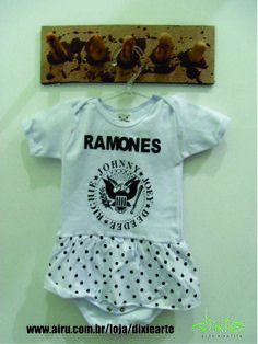 Body Saia Ramones  www.elo7.com.br/dixiearte