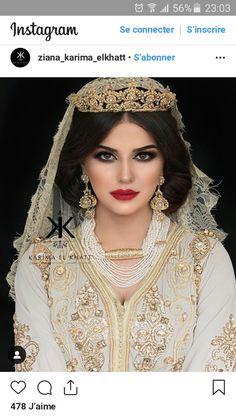 Hijab Mariage, Mariée Marocaine, Caftan Marocain, Talons Aiguilles,  Traditionnel, Jaune,