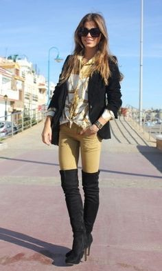 Tartan and Thigh-High Boots | Fashion:Lady&39s-Long-Boots