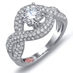 Designer Engagement Rings from DemarcoJewelry.com  	 	 	Available in White or Yellow Gold 18KT and Platinum. 1.00 RD