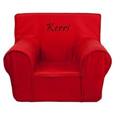 The Kids Small Red Chair will become your child's favorite perch!
