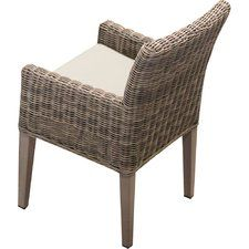 Cape Cod Patio Dining Chair with Cushion (Set of 2)