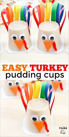 How to Make Turkey Pudding Cups